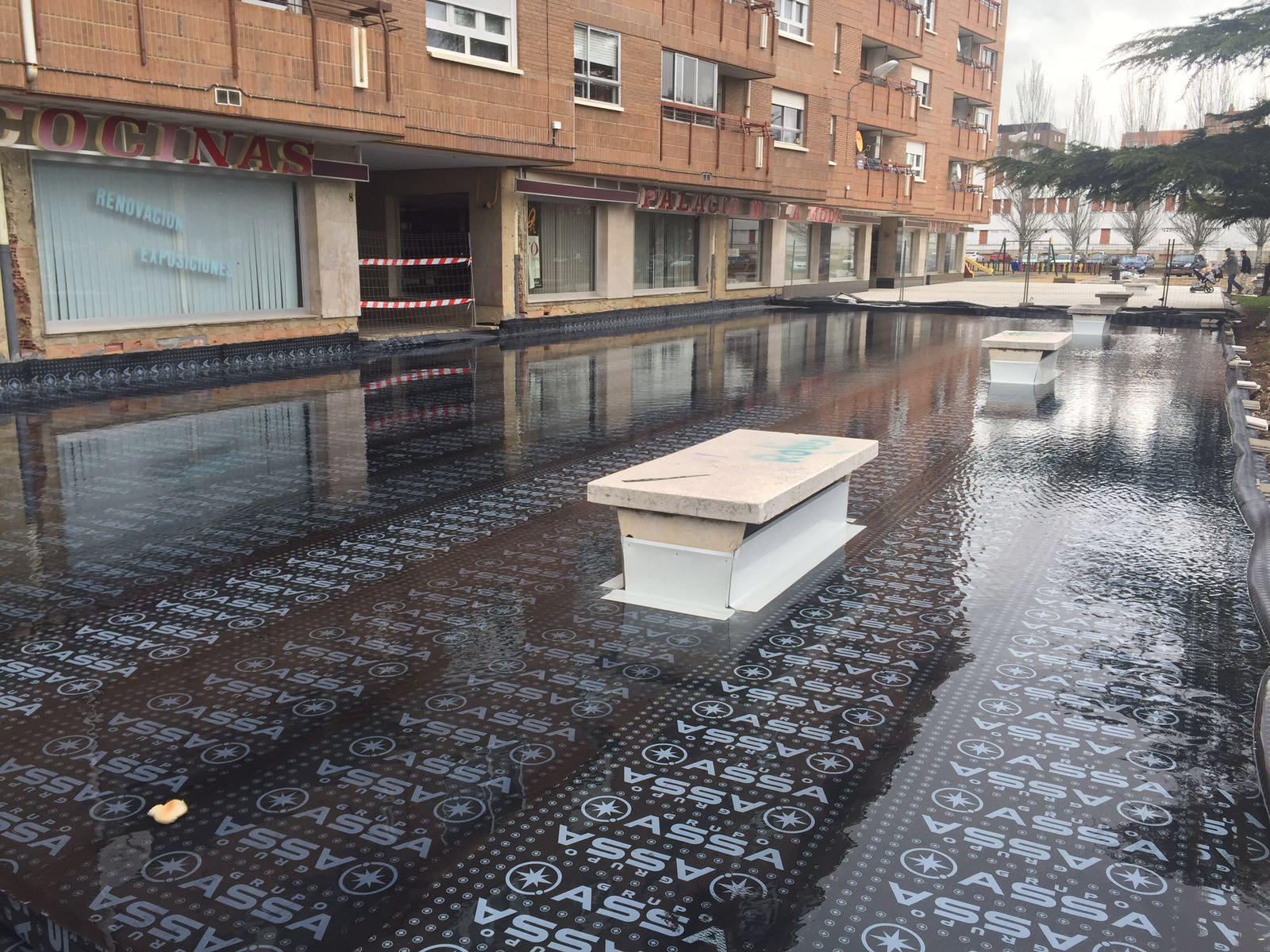 Impermeabilización de plaza en Venta de Baños
