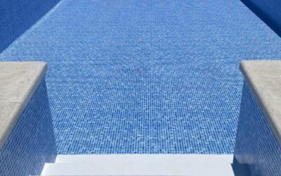 Revestimiento de piscina con lámina de PVC estampado gresite